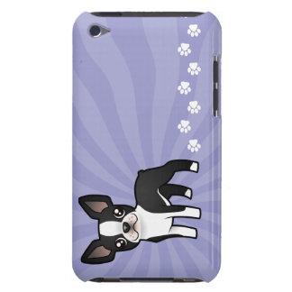 Cartoon Boston Terrier iPod Case-Mate Cases