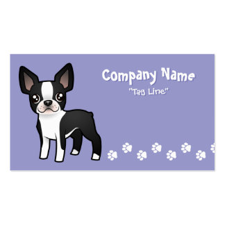 Cartoon Boston Terrier Pack Of Standard Business Cards