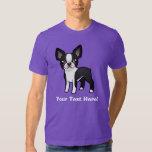Cartoon Boston Terrier Tee Shirts