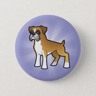 Cartoon Boxer 6 Cm Round Badge