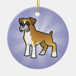 Cartoon Boxer (add your own message) Ornament