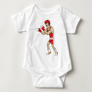 cartoon boxer baby bodysuit