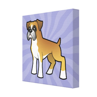 Cartoon Boxer Canvas Print