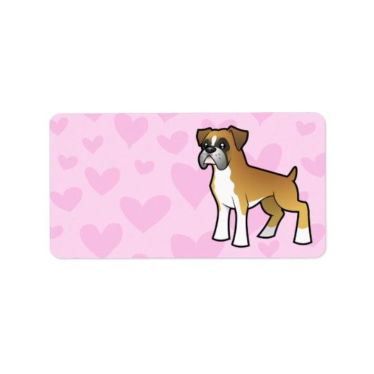 Cartoon Boxer Label