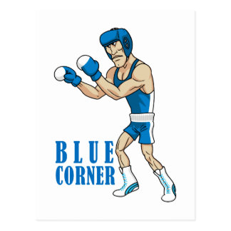cartoon boxer postcard
