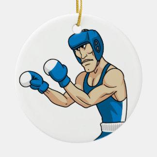 cartoon boxer round ceramic decoration