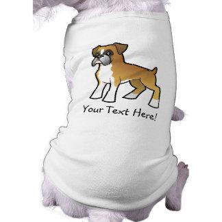 Cartoon Boxer Sleeveless Dog Shirt