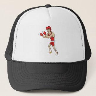 cartoon boxer trucker hat