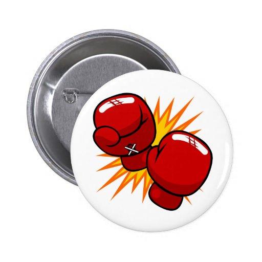 Cartoon Boxing Gloves 6 Cm Round Badge