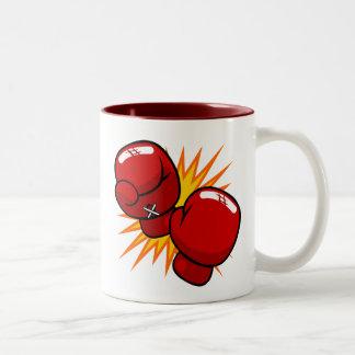 Cartoon Boxing Gloves Two-Tone Mug