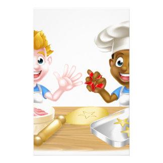 Cartoon Boys Baking Cakes Stationery
