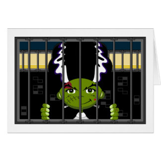 Cartoon Bride of Frankenstein Card