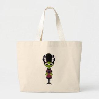 Cartoon Bride of Frankenstein Large Tote Bag