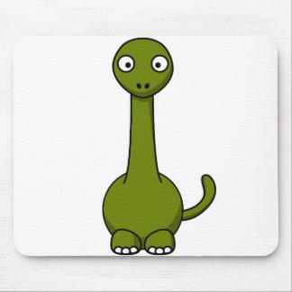 Cartoon brontosaurus mousepads