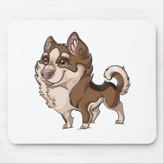 Cartoon Brown Malamute Mouse Pad