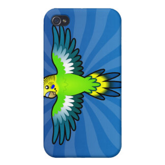 Cartoon Budgie / Parakeet Case For The iPhone 4