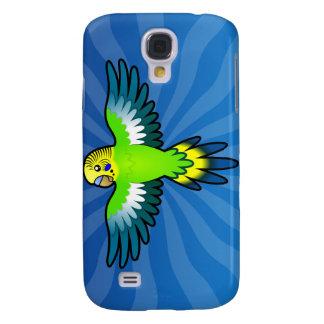 Cartoon Budgie / Parakeet Galaxy S4 Case