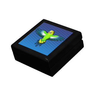 Cartoon Budgie / Parakeet Small Square Gift Box