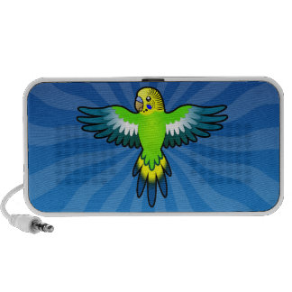 Cartoon Budgie / Parakeet Travel Speakers