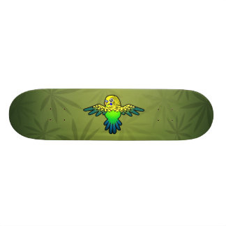 Cartoon Budgie Skate Boards