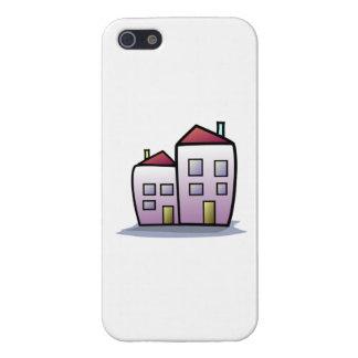 Cartoon Buildings iPhone 5 Cases