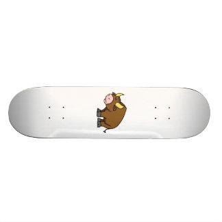 Cartoon Bull Skate Board