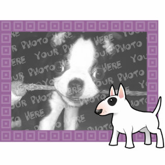Cartoon Bull Terrier Photo Frame Photo Sculpture Magnet
