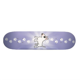 Cartoon Bull Terrier Skateboard