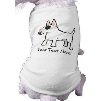 Cartoon Bull Terrier Sleeveless Dog Shirt