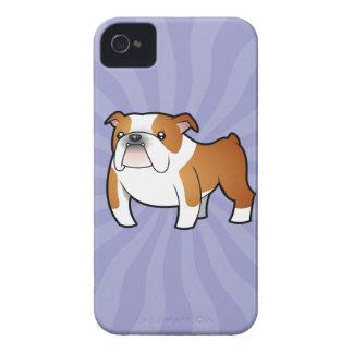Cartoon Bulldog iPhone 4 Covers