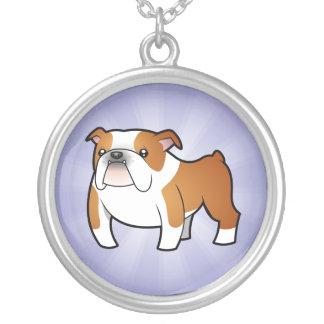 Cartoon Bulldog Silver Plated Necklace