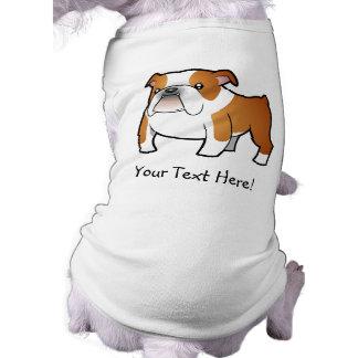 Cartoon Bulldog Sleeveless Dog Shirt