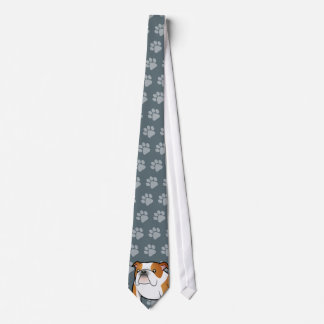 Cartoon Bulldog Tie