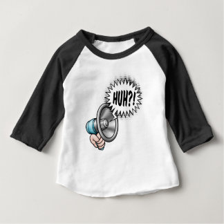 Cartoon Bullhorn Speech Bubble Baby T-Shirt