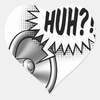 Cartoon Bullhorn Speech Bubble Heart Sticker