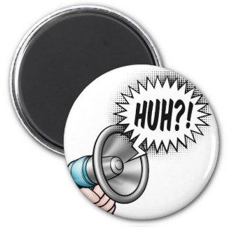 Cartoon Bullhorn Speech Bubble Magnet