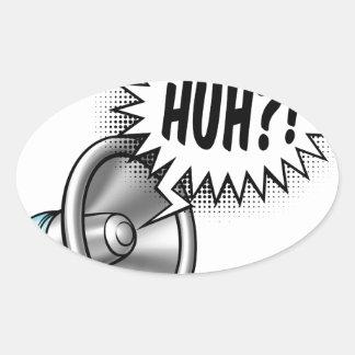 Cartoon Bullhorn Speech Bubble Oval Sticker