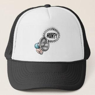 Cartoon Bullhorn Speech Bubble Trucker Hat