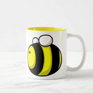 Cartoon Bumble Bee Two-Tone Coffee Mug