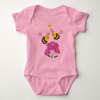 Cartoon Bumble Bees Baby Bodysuit