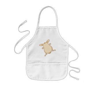 Cartoon bunny illustration kids apron