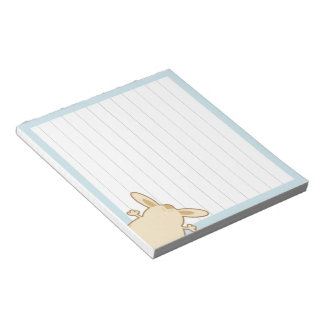 Cartoon bunny illustration notepad