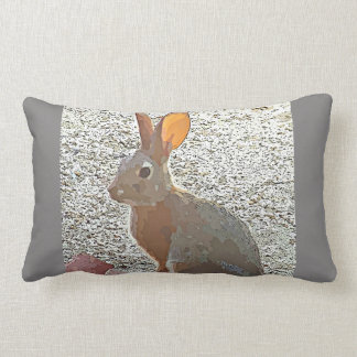 Cartoon Bunny Lumbar Throw Pillow