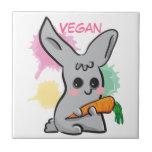 cartoon bunny with carrot custom tile