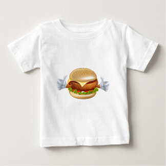 Cartoon burger mascot baby T-Shirt