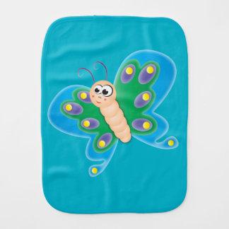 Cartoon Butterfly Burp Cloth