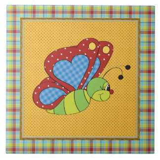 Cartoon Butterfly ceramic fun tile