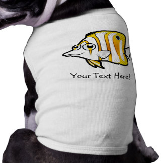 Cartoon Butterflyfish Sleeveless Dog Shirt