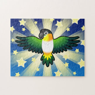 Cartoon Caique / Lovebird / Pionus / Parrot Jigsaw Puzzle