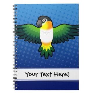 Cartoon Caique / Lovebird / Pionus / Parrot Notebook